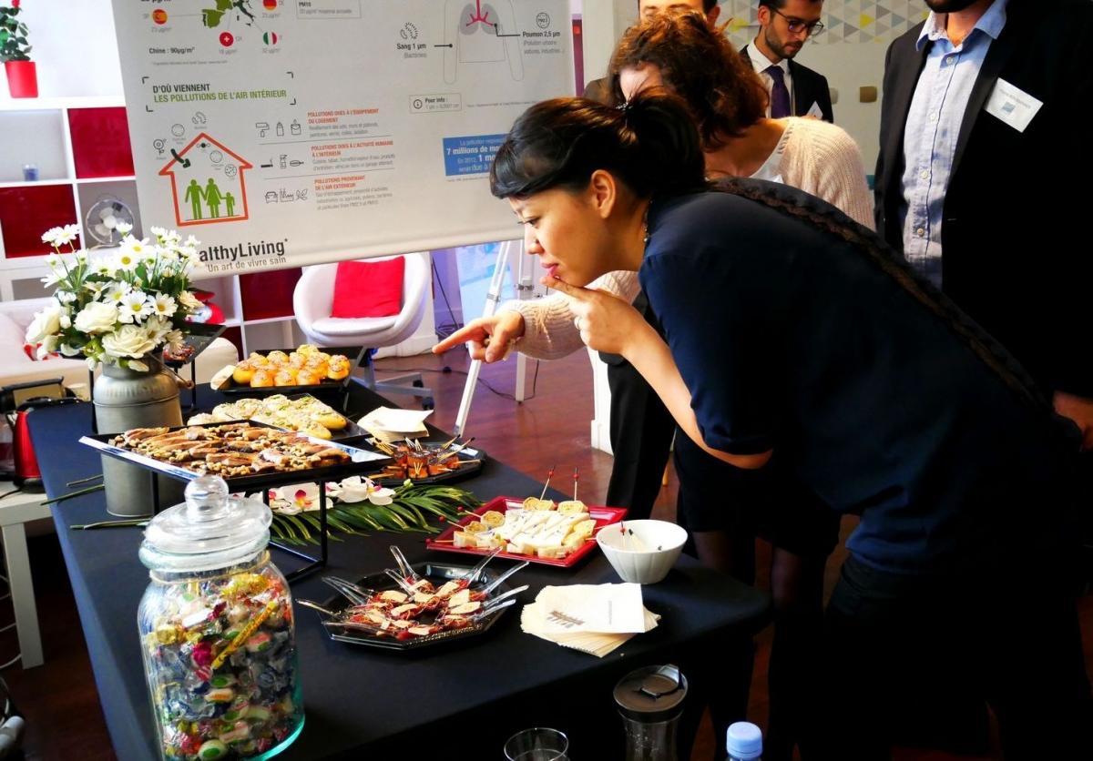 Paris événement location salle atypique buffet journée presse